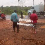 En el kilómetro 273 a la altura de aldea machacas carretera ruta el Atlántico, accidente de transito.